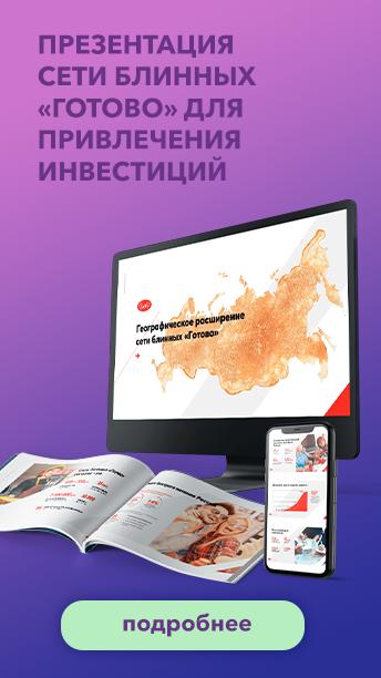 Презентация сети блинных «Готово» для привлечения инвестиций