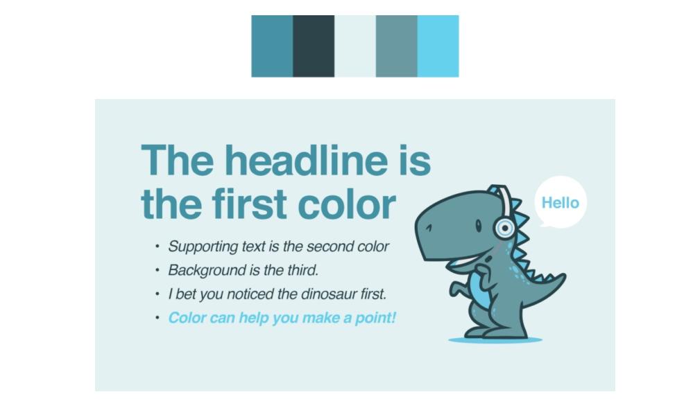 Использование цвета в презентации