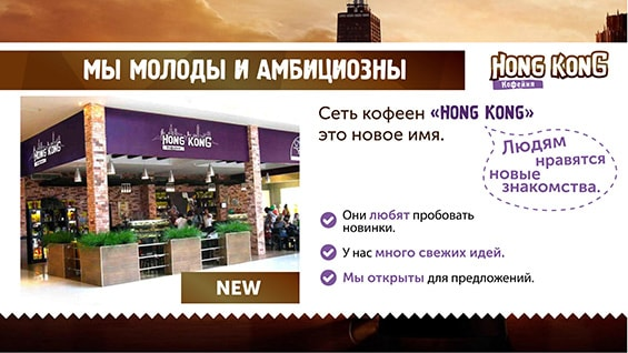 Презентация кофейни для аренды в ТЦ