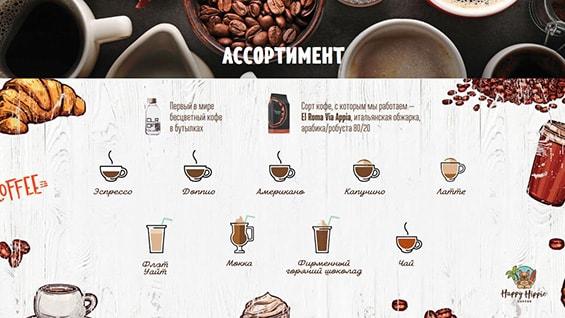 Презентация Happy Hippie Coffee для аренды места в ТЦ
