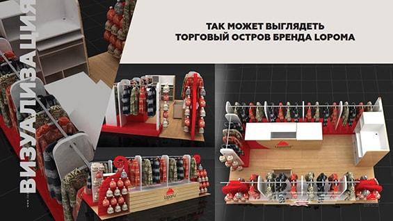 Презентация магазина термобелья Lopoma для ТЦ