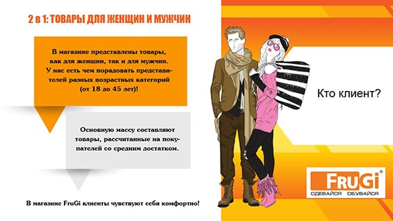 Презентация магазина одежды Frugi для аренды в торгово-развлекательном центре