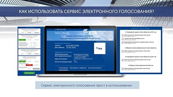 Презентация услуги электронного голосования для собрания акционеров