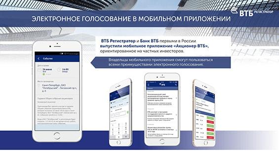 Презентация услуги электронного голосования для акционеров