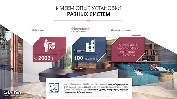 Презентация системы «Умный дом» от Stativa