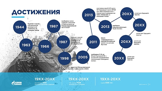 Пример презентации для «Газпром Бурение»
