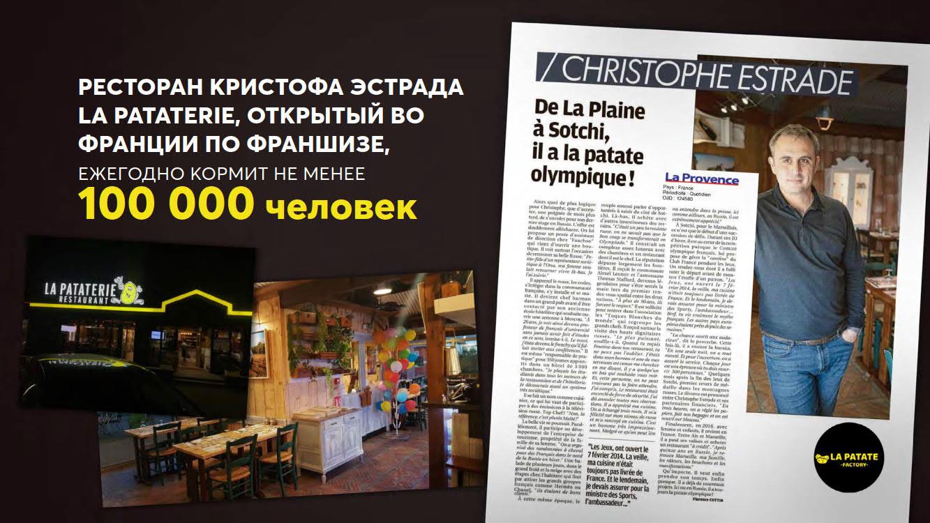 Презентация кафе La Patate для ТРЦ и фудмаркетов