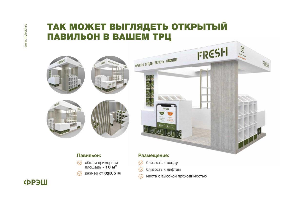 Презентация магазина «Фрэш» для аренды в ТЦ