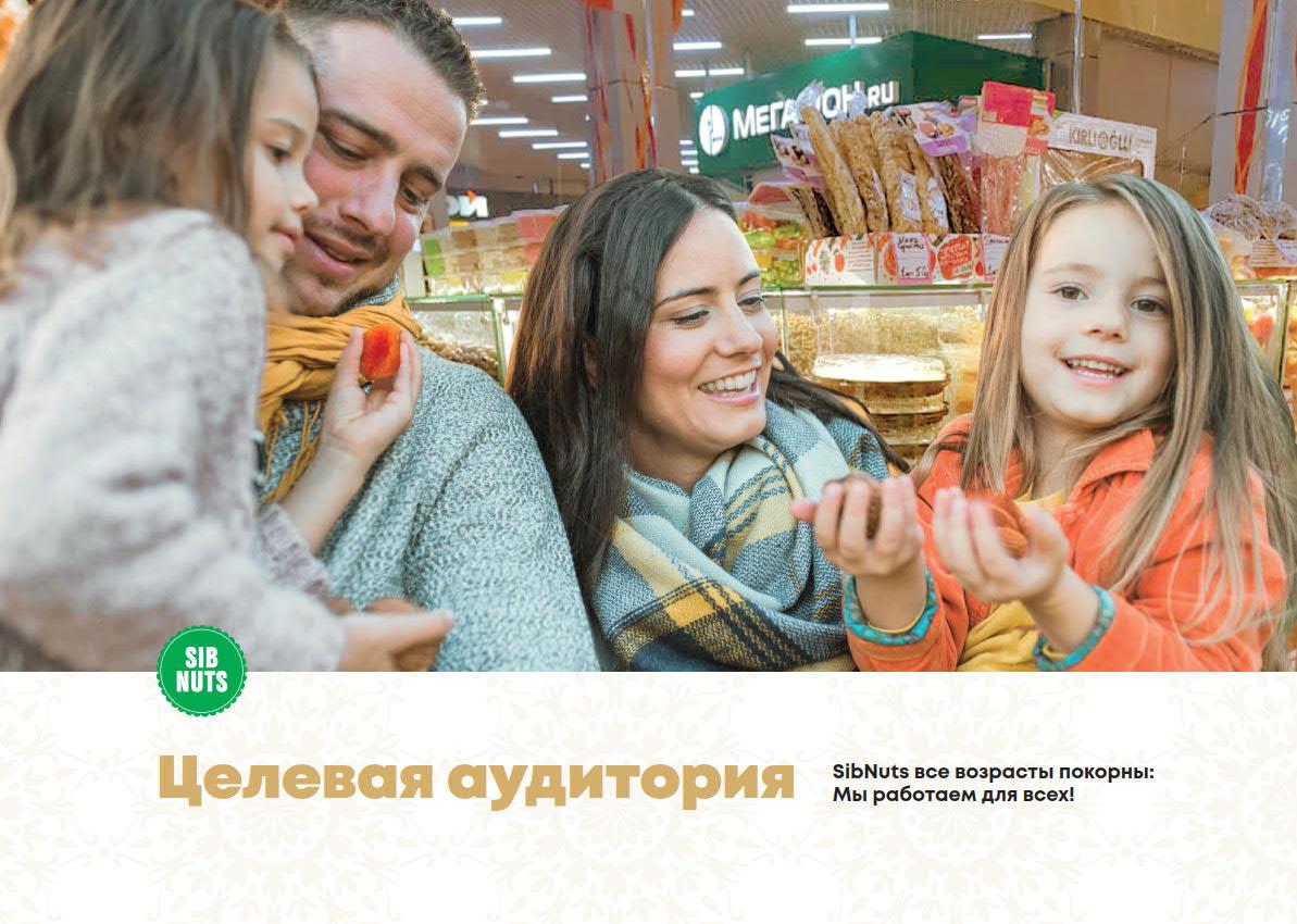 Презентация сети магазинов продуктов здорового питания SibNuts для аренды в ТРЦ