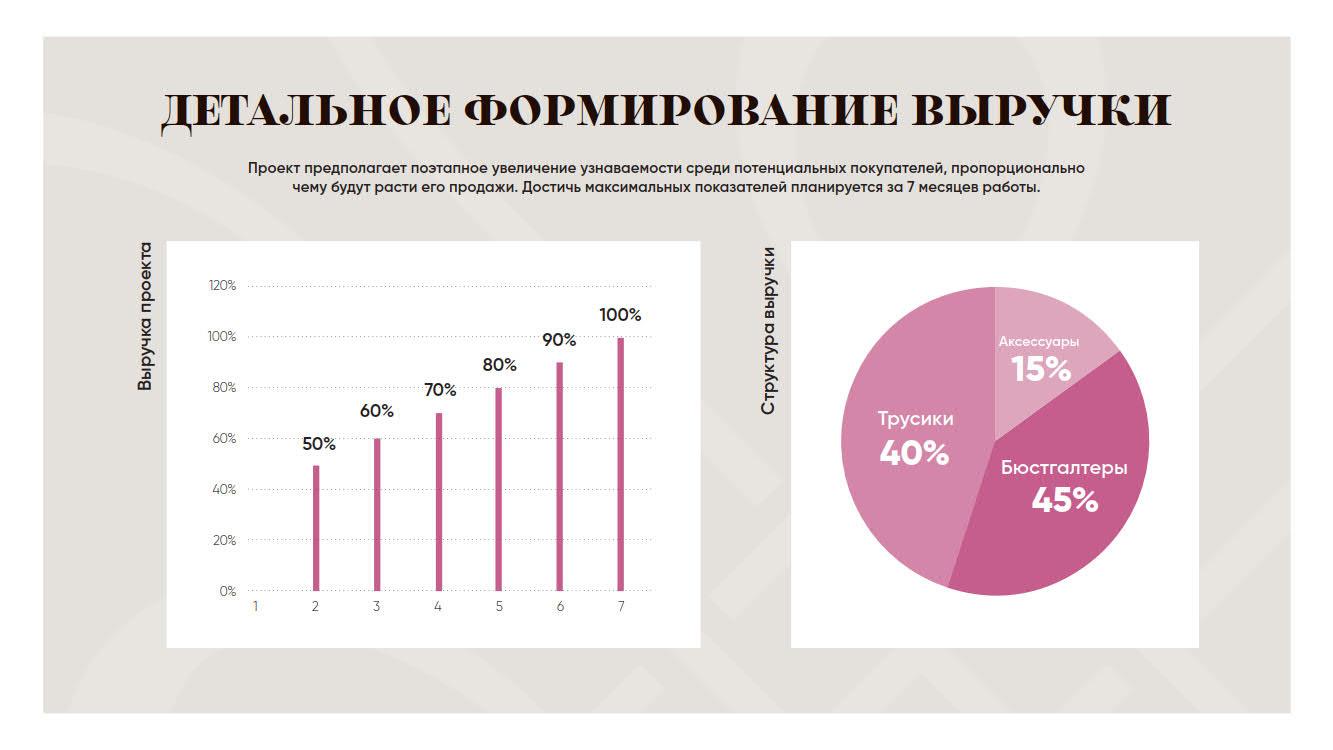 Презентация бутика женского нижнего белья для привлечения инвесторов