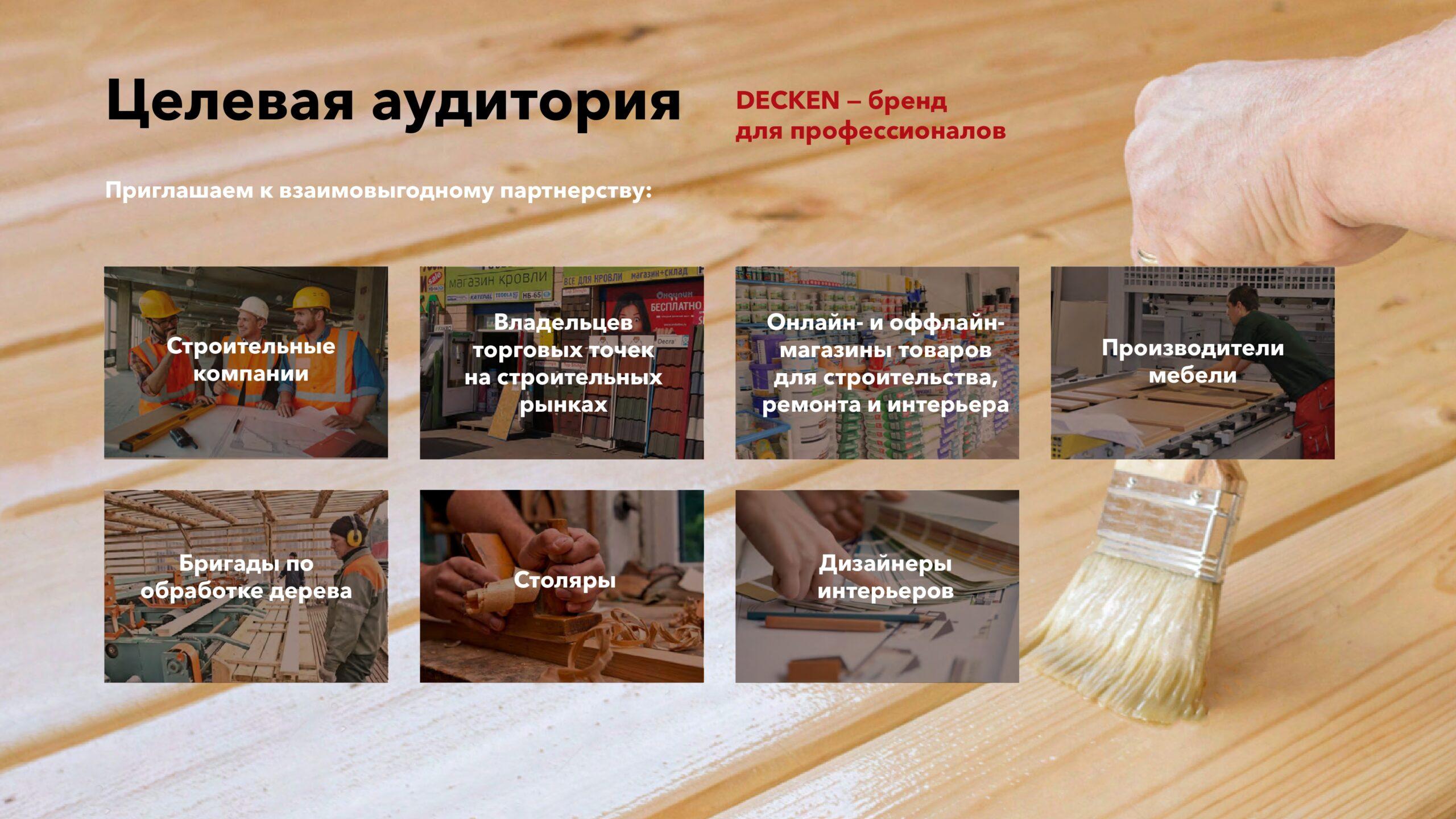 Презентация бренда масел и воска для обработки дерева