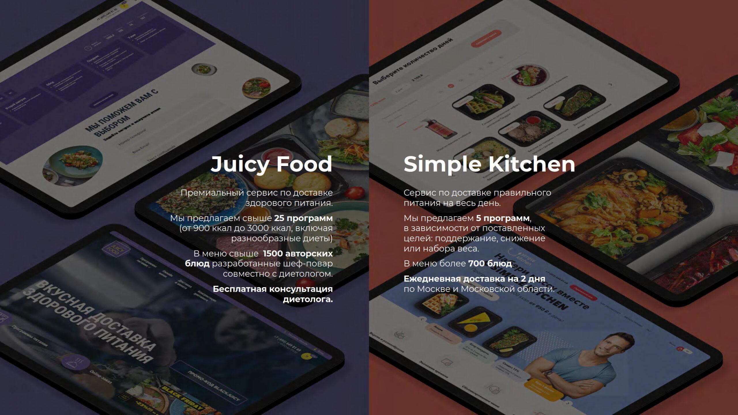 Презентация сервиса доставки правильного питания «Foodtech»