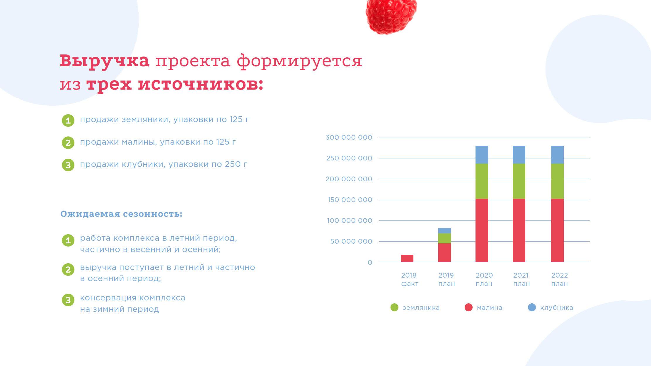 Презентация проекта создания ягодного кластера для инвесторов