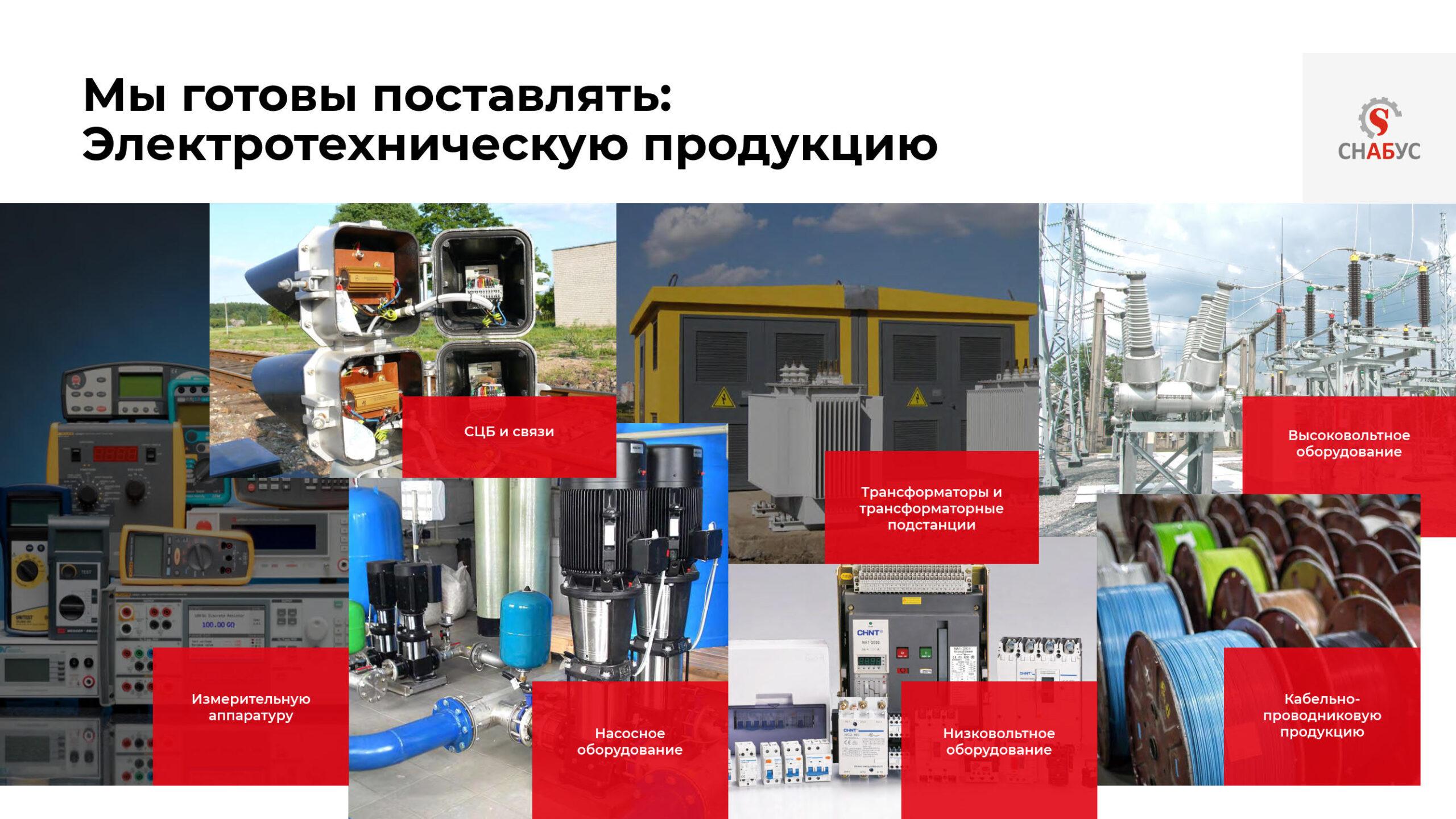Презентация продукции оптовой торговой компании «Снабус»