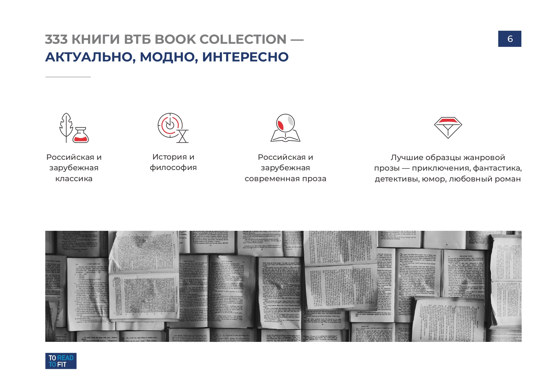 Презентация проекта To Read To Fit для инвесторов