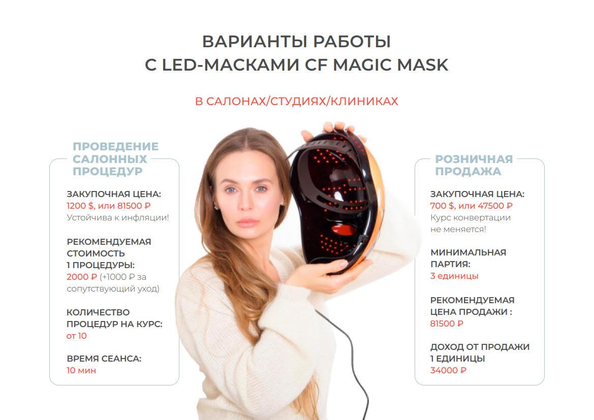 Презентация LED-масок для салонов красоты